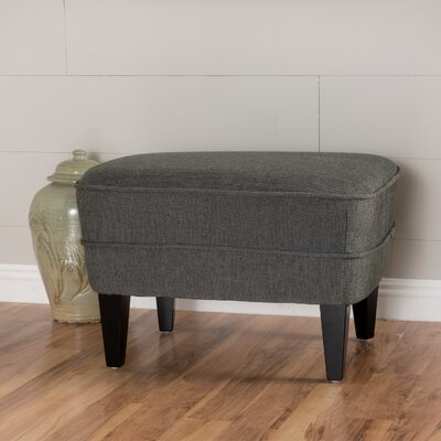 Aquarius Fabric Ottoman Finish: Gray