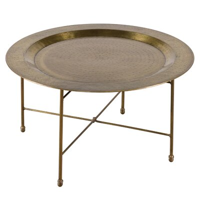 Brass Plated Round Coffee Table