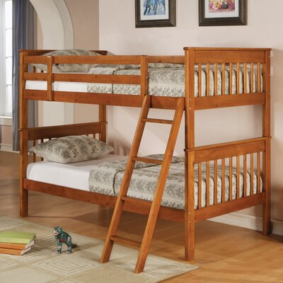 Windham Bunk Bed Size: Twin over Twin, Color: Distressed Pine