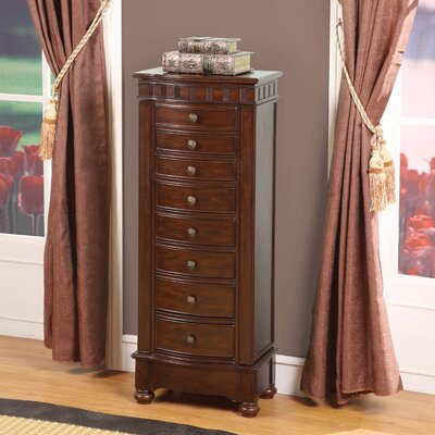 Wildon Home Murphy Eight Drawer Charging Jewelry Armoire in Coffee Brown at Sears.com