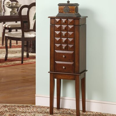 Wildon Home Diamond Classic Six Drawer Jewelry Armoire in Coffee Brown at Sears.com