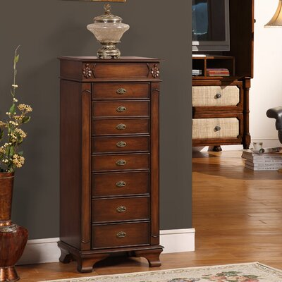 Wildon Home Manhattan Eight Drawer Jewelry Armoire in Coffee at Sears.com