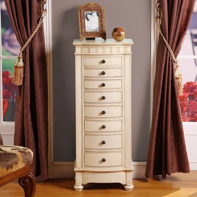 Wildon Home Murphy Eight Drawer Changing Jewelry Armoire in Cream at Sears.com