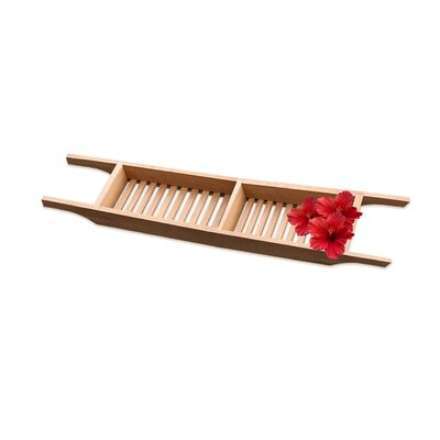 Wood Bath Caddy Size: 1.75 H x 30 W x 5.75 D