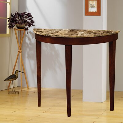 Cheap Wildon Home Faux Marble Top Console Table in Cherry (CST7314)