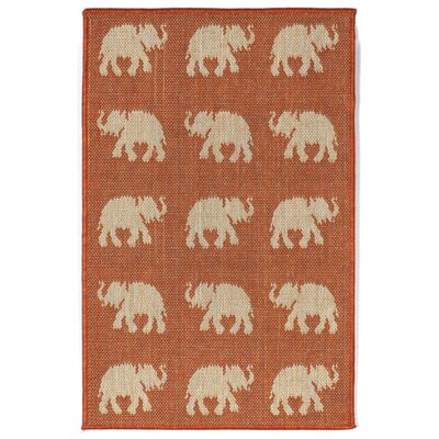 Slimane Elephants Indoor/Outdoor Rug Rug Size: Rectangle 3'3