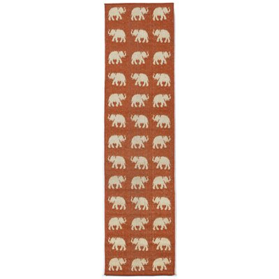 Slimane Elephants Indoor/Outdoor Rug Rug Size: Runner 1'11