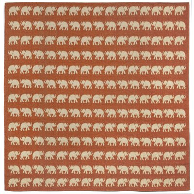Slimane Elephants Indoor/Outdoor Rug Rug Size: Square 7'10