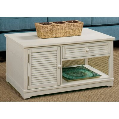 Coffee Table with Magazine Rack Finish: White Linen