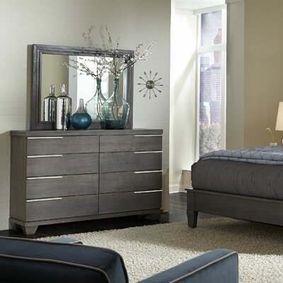 Azalea 8 Drawer Double Dresser with Mirror