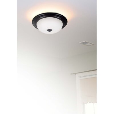 Bonniview Flush Mount Size / Energy Star: 6.5 H x 15.25 W / Yes, Finish: Oil Rubbed Bronze