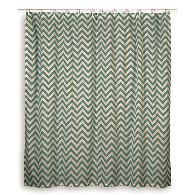 Charlean  Cotton Shower Curtain Color: Teal