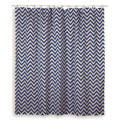 Charlean  Cotton Shower Curtain Color: Navy