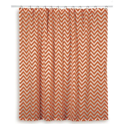 Charlean  Cotton Shower Curtain Color: Orange