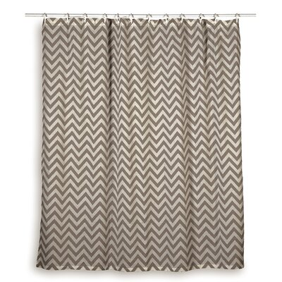 Charlean  Cotton Shower Curtain Color: Gray