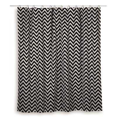 Charlean  Cotton Shower Curtain Color: Black