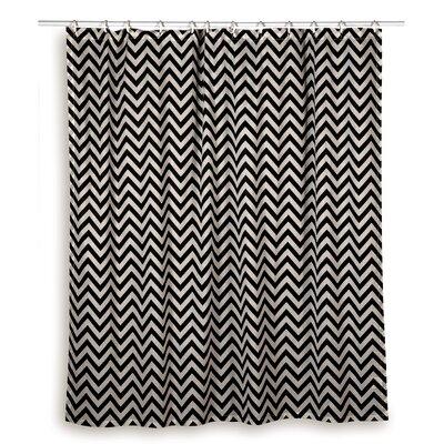 Charlean  Cotton Shower Curtain Color: Black