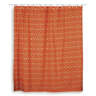 Charlee  Cotton Shower Curtain Color: Orange