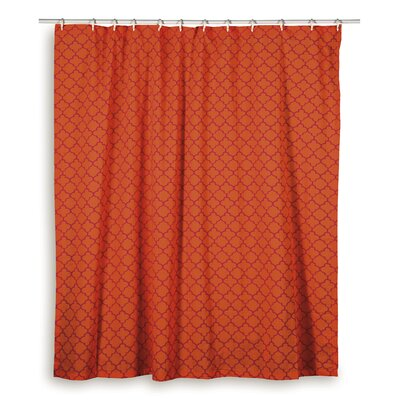 Charleena  Cotton Shower Curtain Color: Orange