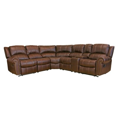 Gretna Reclining Sectional Upholstery: Brown
