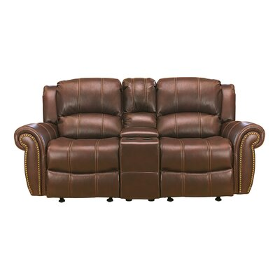 Gretna Glider Reclining Sofa Upholstery: Brown