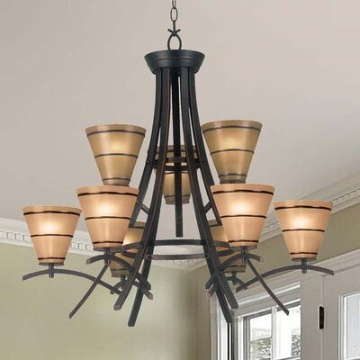 Brookings 9-Light Shaded Chandelier