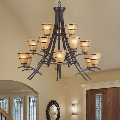 Brookings 15-Light Shaded Chandelier
