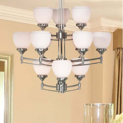 Paxton 12-Light Shaded Chandelier