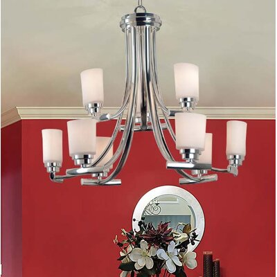9-Light Candle-Style Chandelier