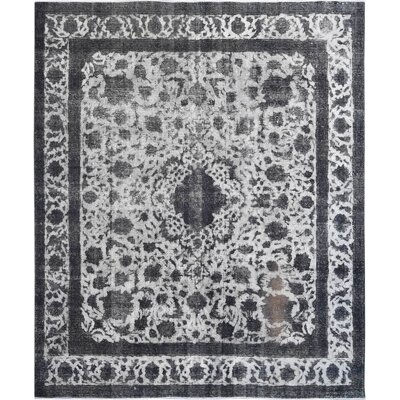 Vintage Hand-Knotted Gray Area Rug