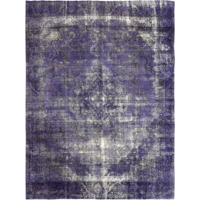 Vintage Hand-Knotted Purple/Gray Area Rug
