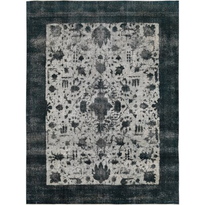 Vintage Hand-Knotted Gray/Blue Area Rug