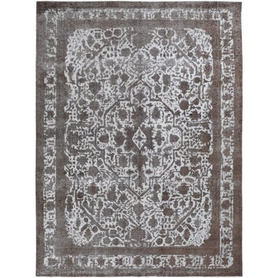 Vintage Hand-Knotted Gray/Brown Area Rug