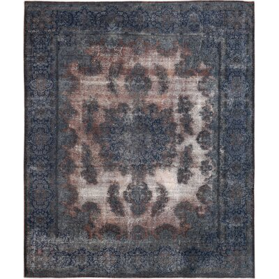Vintage Hand-Knotted Blue/Brown Area Rug