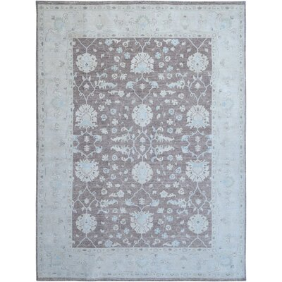 Hand-Knotted Blue/Gray Area Rug