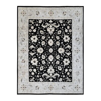 Hand-Knotted Black/Gray Area Rug