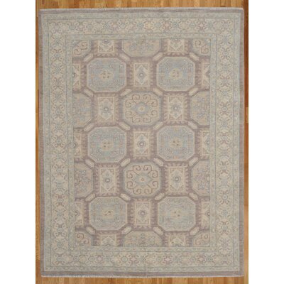 Hand-Knotted Blue/Beige Area Rug