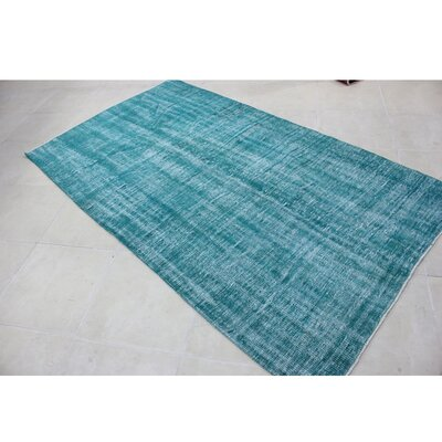 Vintage Hand-Knotted Blue/White Area Rug
