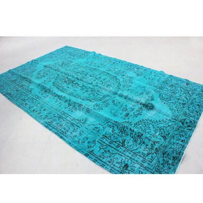 Vintage Hand-Knotted Blue Area Rug