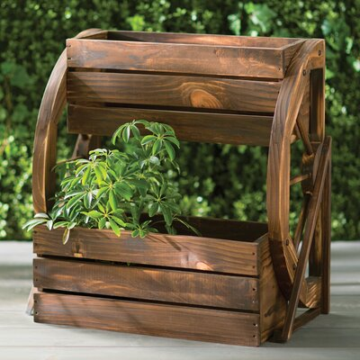 2 ft. x 1 ft. Fir Wood Raised Garden Planter