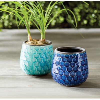 Aviston Honeycomb Ceramic Pot Planter