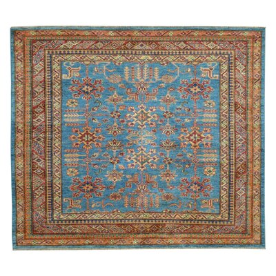 Kazak Hand-Knotted Blue/Red Area Rug