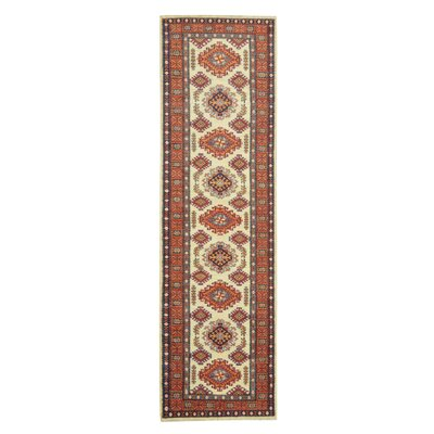 Kazak Hand-Knotted Beige/Orange Area Rug