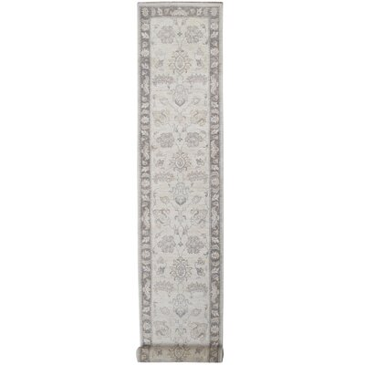 Hand-Knotted Gray Area Rug