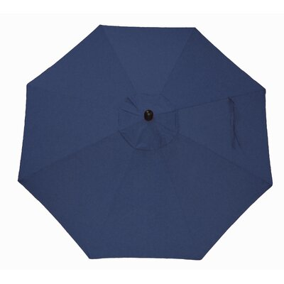 9 Market Umbrella Frame Finish: Black, Fabric: Canvas Heather Beige
