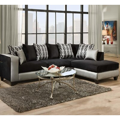 Borrero Sectional Upholstery: Gray/Black