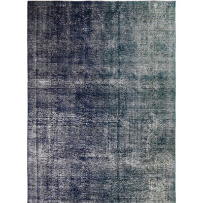 Vintage Hand-Knotted Gray/Purple Area Rug