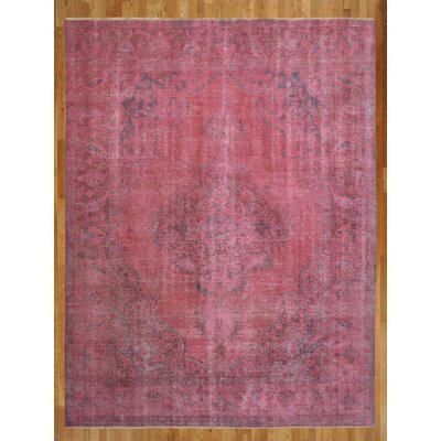 Vintage Hand-Knotted Pink Area Rug