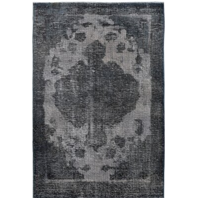 Vintage Hand-Knotted Gray/Black Area Rug