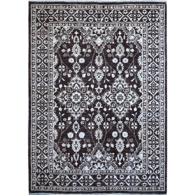 Hand-Knotted Black/White Area Rug